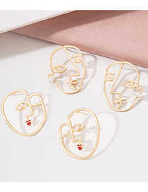Fashion Face 2 Abstract Hollow Face Earrings
