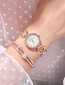 Fashion Rose Gold Band Alloy Quartz Watch