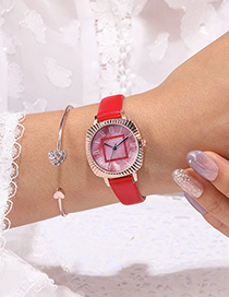 Fashion Pink Oval Strap Watch