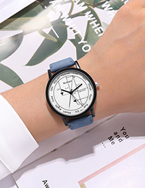 Fashion Pink Geometry Math Quartz Strap Watch