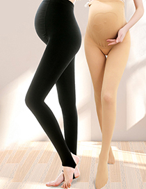 Fashion Black With Feet (450g) Adjustable Belly Support Plus Velvet 450g Maternity Pantyhose