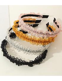 Fashion White Chiffon Mesh Lace Metal Thin Side Headband