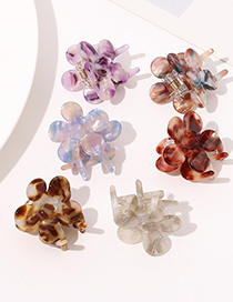 Fashion Flower Acetate Hairpin-pattern Coffee Acetate Small Flower Plate Hair Clip