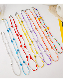 Fashion Transparent Color (beaded Version) Chain Smiley Glasses Chain
