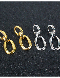 Fashion Golden Metal Irregular Geometry Earrings