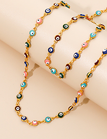 Fashion Color Alloy Resin Eye Necklace
