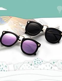 Fashion Leopard Print/whole Tea Bunny Childrens Sunglasses