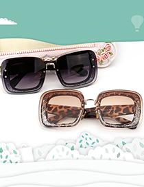 Fashion Transparent/transparent Large Frame Childrens Sunglasses