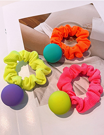 Fashion Fluorescent Green Ball Color Balls For Childrens Hair Tie