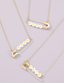 Fashion Cute Pin Letter Chain Necklace