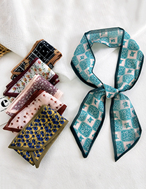 Fashion 30 Chiffon Houndstooth Narrow And Long Double-sided Printed Silk Scarf