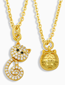 Fashion A Lucky Cat Pendant Necklace