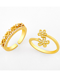 Fashion A Opening Adjustable Flower Love Ring