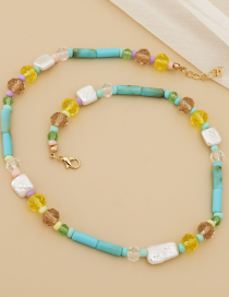 Fashion Color Resin Geometric Bead Necklace