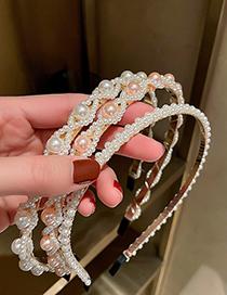 Fashion Pink Style Seven Pearl Headband