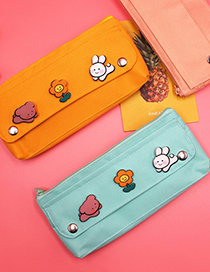 Fashion Light Pink High Elastic Oxford Cloth Solid Color Pencil Case