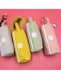 Fashion Pink Double-layer Oxford Cloth Large-capacity Pencil Case