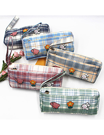 Fashion Section 5 (without Brooch)) Lattice Large-capacity Stationery Box (without Brooch)