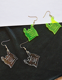 Fashion Fluorescent Green Eco-friendly Acrylic Packaging Food Bag Earrings