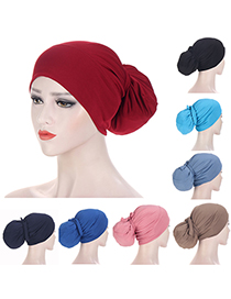 Fashion Skin Powder Solid Color Strappy Cap