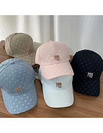 Fashion Pink Dot Letter Baseball Cap