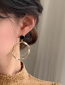 Fashion Orange Alloy Geometric Stud Earrings