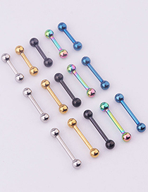 Fashion 5 Ear Bone Nails Mixed Colors Vacuum Plated Stainless Steel Piercing Earrings