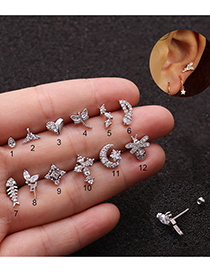 Fashion 1# Insect Stainless Steel Zircon Earrings
