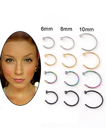 Fashion Golden Stainless Steel Nose Nail