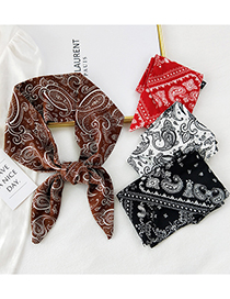 Fashion 23 Shadow Bonus Long Small Silk Scarf With Tied Hair And Printed Streamers
