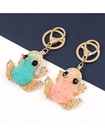 Fashion Blue Alloy Resin Lucky Toad Keychain