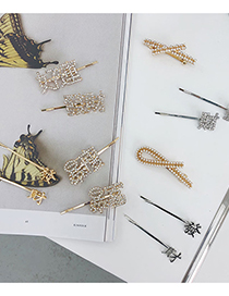 Fashion Rich And Thin Alloy Bow Get Rich Metal Cross Hairpin
