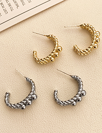 Fashion Silver Color Alloy Geometric C-shaped Earrings