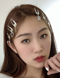 Fashion Five-pointed Star Flash Diamond Five-pointed Star Hairpin