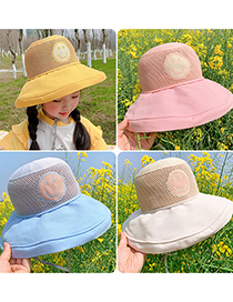 Fashion Bright Yellow Smiley Children's Smiley Big Brimmed Hat