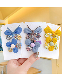 Fashion Korean Fan Children's Fabric Floral Butterfly Small Flower Hairpin