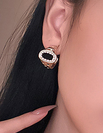 Fashion Gold Color Real Gold Electroplated Pearl C-shaped Earrings