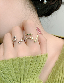 Fashion Gold Color Metal Geometric Open Ring