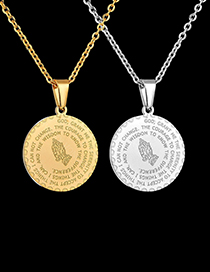 Fashion Gold Color Scripture Letters Stainless Steel Necklace