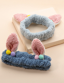 Fashion White Bunny Ears Plush Headband