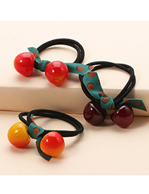 Fashion Yellow Red High Stretch Fruit Cherry Hair Rope
