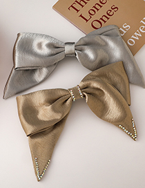 Fashion B Gold Color Geometric Bow Hairpin
