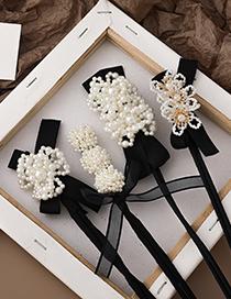 Fashion D Crystal Beaded Pearl Diamond Hair Set
