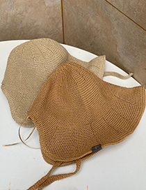 Fashion Beige Sunscreen Breathable Straw Hat