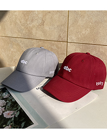 Fashion Beige Letter Embroidered Abc Soft Top Baseball Cap