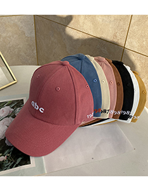 Fashion Beige Alphabet Abc Baseball Cap