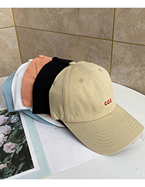 Fashion Orange Letter Embroidered Baseball Cap