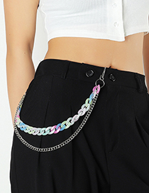 Fashion Color Color Plastic Metal Chain Waist Chain