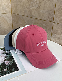 Fashion Watermelon Red Visor Letter Embroidery Baseball Cap