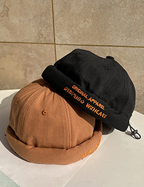 Fashion Caramel Letter Embroidery Hat